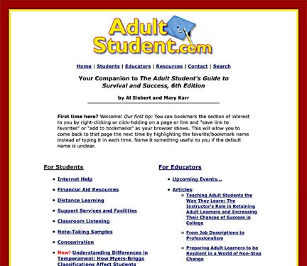Adult Student screen shot